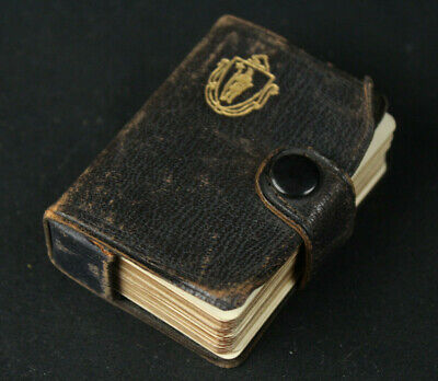 Vintage Antique Fauntleroy Miniature Playing Cards Deck w/Leather Case - Rare!