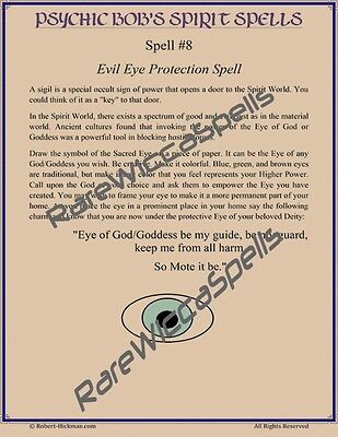 PSYCHIC VAMPIRE PROTECTION Spell Wicca Book of Shadows Page on