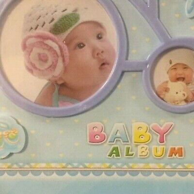 ''My First Year'' Baby Photo Album New Born Frame Set Gift Album 0508X 2 colours