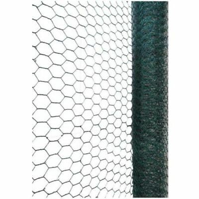 Green PVC Galvanised Chicken Wire Netting Fencing Coop Aviary Rabbit Hutches