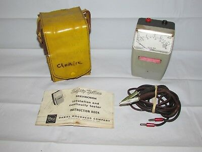 Vintage Metrohm Insulation & Continuity Tester w/ Instructions Case Test Leads