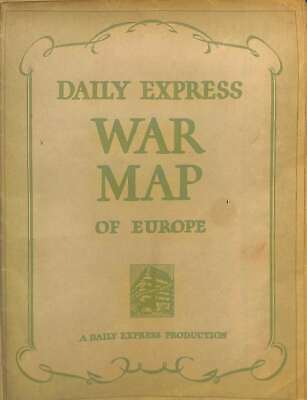 Daily Express War Map Of Europe, , Good Condition Book, ISBN