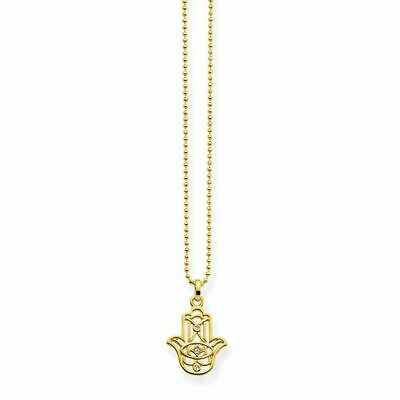 Thomas Sabo - Gold Plated Sterling Hand of Fatima Hamsa Necklace