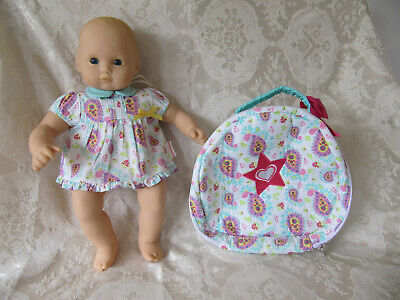 Bitty Baby Doll (American Girl) & Paisley Diaper Bag With Matching Dress