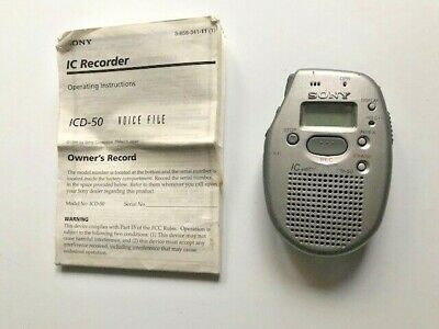 Sony ICD-50 IC Voice Recorder~With Manual