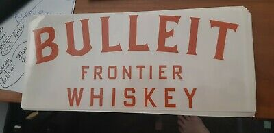 Bulleit bourbon sticker - window sticker