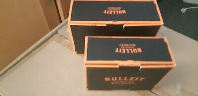 Bulleit bourbon glass packs 2 different size twin packs