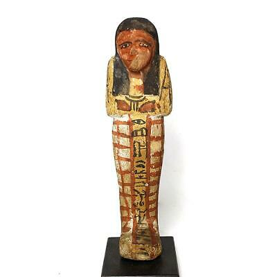 A good Egyptian Wood Shabti for Khaemwaset, 20th Dynasty , ca. 1187 - 1069 BCE