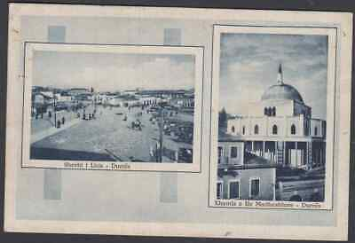 Albania 1939 Durres Italy Occupation Overprints Multi-Stamp Used Ppc To Italy