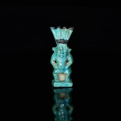 * An Egyptian Faience Amulet of Bes, Third Intermediate Period- Late Period, ca.