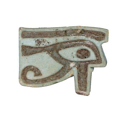 A large Egyptian Faience Wedjat Eye Amulet, Late Period, ca 664 - 332 BC