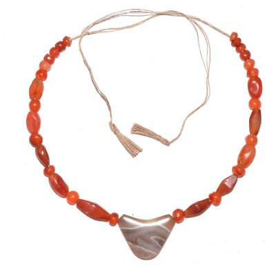An Achaemenid Carnelian and Banded Agate Bead Necklace, ca. 550 - 332 BCE
