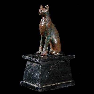 * An Egyptian Bronze figure of a Cat, 19th Dynasty, ca. 1295 -1069 BC