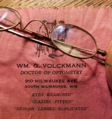 933e290927e Antique Eyeglasses Spectacles Gold Filled South Milwaukee WI w Case