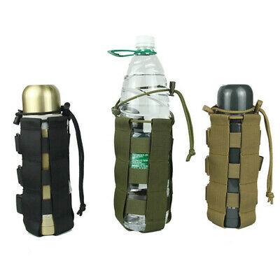 Outdoor Tactical Water Bottle Bag Military Hiking Belt Holder Kettle Pouch shan