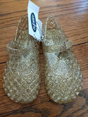 d7c4bb6a1808 Baby Toddler Girl Gold Glitter Jelly sandals Old Navy! Size 6. NEW!