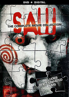 Saw: The Complete Movie Collection (DVD, 2014, 4-Disc Set) SAW 1-7, GREAT SHAPE