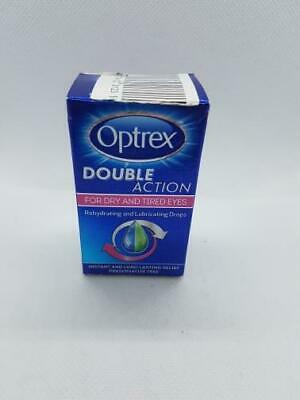 OPTREX Double Action For Dry And Tired Eyes 10ml Drops BRAND NEW!!