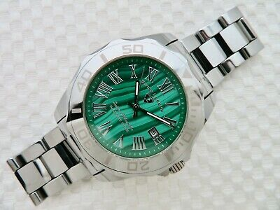 Tungsten Steel Swiss Legend Malachite Stone Dial Swiss Automatic Movement Cl888