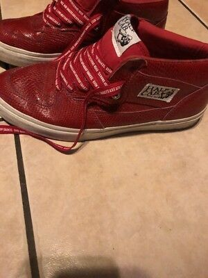 c98e2db378 VTG VANS 2009 SIZE 9.5 HUF HALF CAB 3 feet high RED SNAKESKIN SKATE SHOES VG