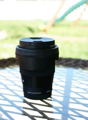 Sigma 16mm f/1.4 DC DN Contemporary Lens for Sony E-Mount w/ UV Filter