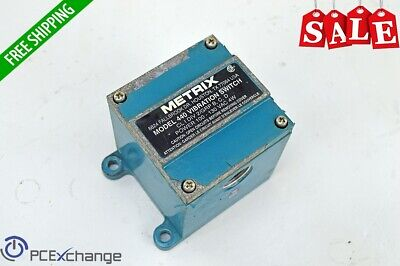 Metrix 440 Vibration Switch 440DR-2001 115V AC Two alarm setpoints .1-1.5 in/sec