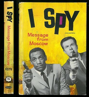 Vtg. 60s TV, I SPY Message From Moscow, Whitman Authorized Ed. HC, Keith, CLEAN