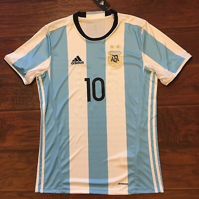 c05acc0a1 2016 17 Argentina Home Jersey  10 Messi Medium ADIDAS Football Soccer NEW