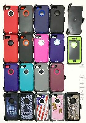 New Defender Case With Belt Clip & Screen Protector For iPhone 7 / 8 / Plus
