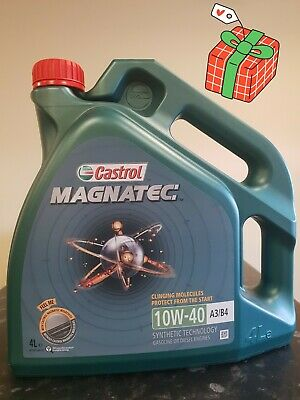 Castrol Magnatec 10W-40 Part-Synthetic Engine Oil ACEA A3/B4 10W40 4 Litres 4L X