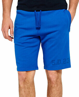 """Superdry Mens Heritage Wash Shorts Small Cobalt Blue 10"""" Inseam"""