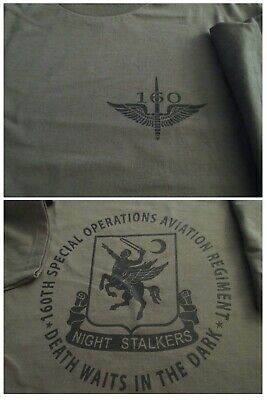 160th NIGHT STALKERS SOAR Spec OPS Aviation T-Shirt Ultra Cotton XL Military USA