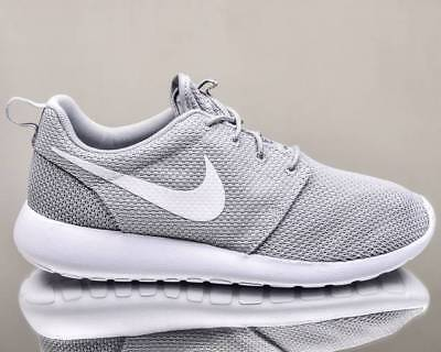 reputable site 65a6a f901a AUTHENTIC NIKE ROSHE Run One Wolf Grey White 511881 023 Mesh Men shoe sz