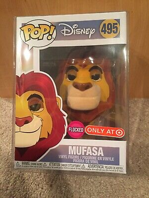 Funko Pop The Lion King #495 Target Exclusive Flocked Mufasa With Soft Protector