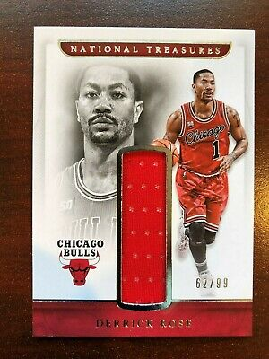 b36269e55c2e Derrick Rose 2016 17 National Treasures jersey   62 99 Bulls Timberwolves