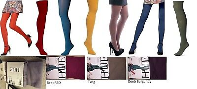 HUE Women's Tights Super Opaque WITH Control Top Tights Size 1, 2, 3