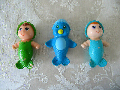 009717fb7c95 Vintage Kenner Sea Wees Mermaid Baby Babies Doll Lot~Penny-Sprite-Coral