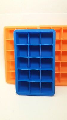 7.4 x 4.5 x 1.4 Set of 2 Silicone Ice Trays 15 Perfect Cube 1 Blue, 1 Purple