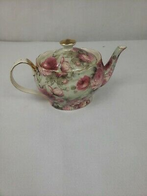"Peppertree Tea Ware Fine Porcelain Gold Trimmed ""Pink Rose"""