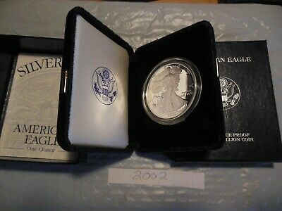 2002 Silver American Eagle proof coin