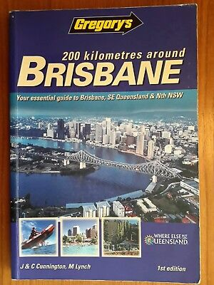 Collectable Gregory's 200km Around Brisbane Street Directory 1st Edition 2000