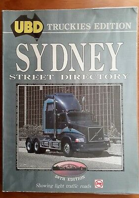 Collectable 1991 UBD Truckies Edition Sydney Street Directory 28th Edition