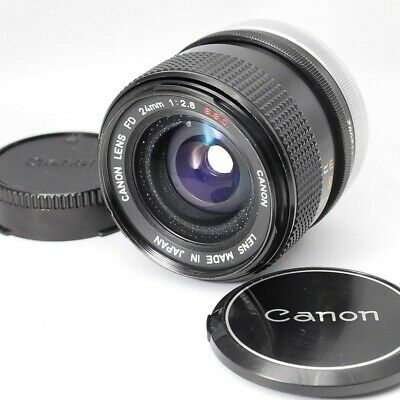 CANON FD SSC 24mm F/2.8 S.S.C. MF WIDE ANGLE LENS FROM JAPAN [EXC+++++]