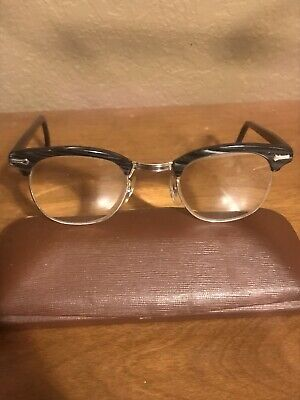 Vintage Shuron 24 MM 46 Black/Gray Swirl Sirmont Eyeglasses- SUPERB CONDITION!