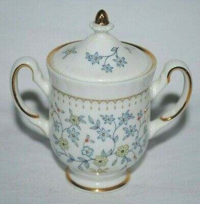 Royal Albert miniature lidded sugar bowl or urn, Franklin Mint
