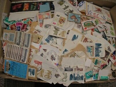 A8 - Huge Mostly Off Paper Foreign Lot, South Africa, Canada High Values, Tons