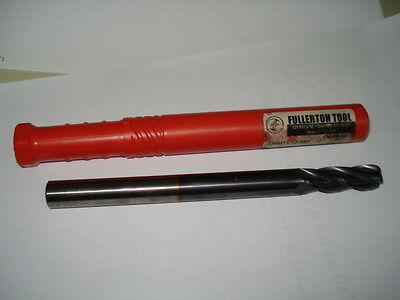 TiAlN COATED FULLERTON TOOL #33813 1//8 4FL .020CR CARBIDE END MILL