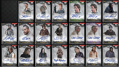 Topps Walking Dead Card Trader Assorted Original Sigs - Lot of 20