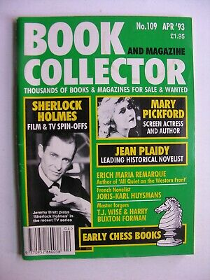 BOOK & MAGAZINE COLLECTOR Apr 1993 109 Jeremy Brett Sherlock Jean Plaidy Chess