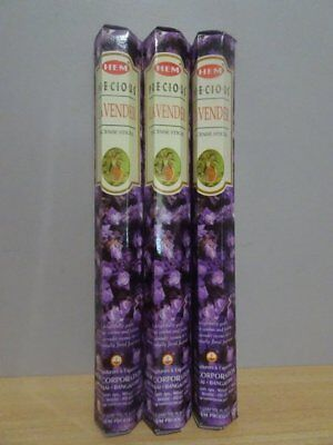 Precious Lavender Incense  3 Packs x 20 Sticks  HEM Hex   Free Post AU